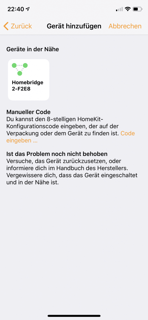 Apple Home Gerät hinzufügen Teil 3