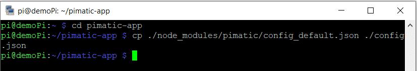 kopieren der Pimatic konfiguration